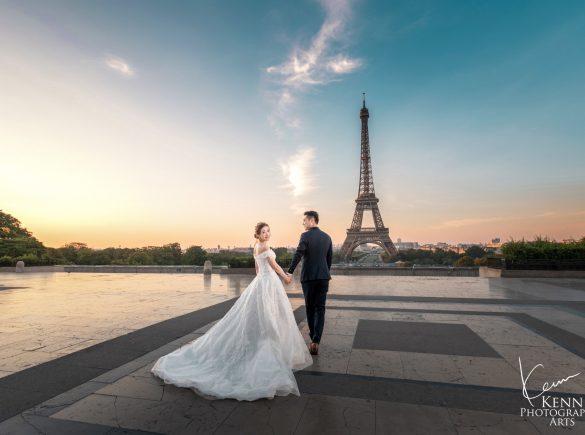 Chalice & Kelvin Paris Pre Wedding Photos